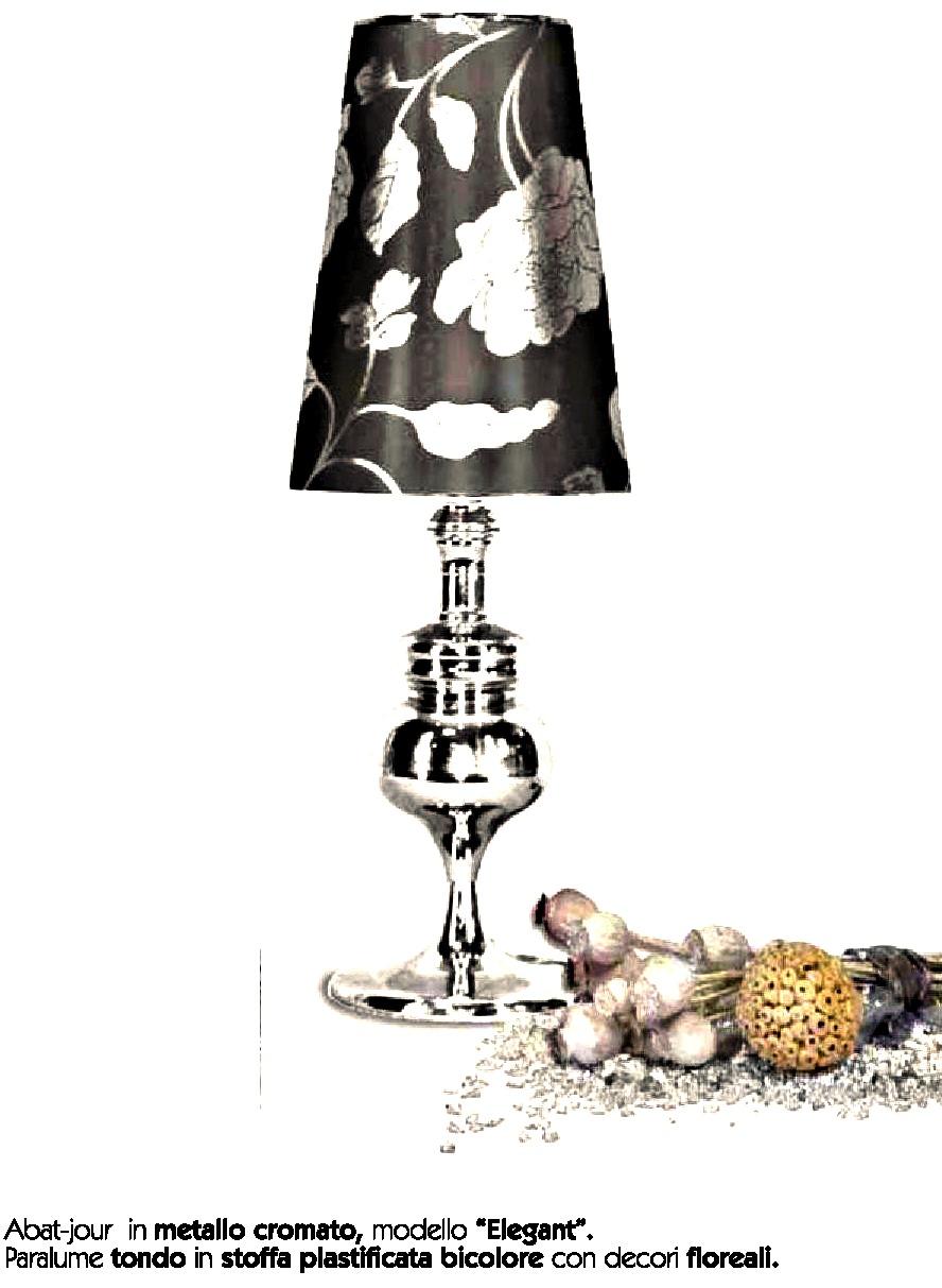 Abat jour in metallo cromato modello elegant idea di - Casa abat jour ...