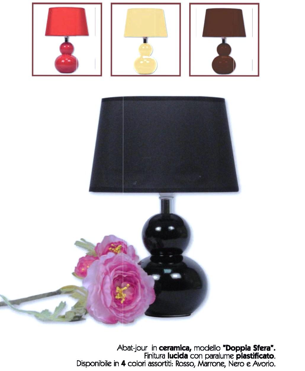 Aba jour in ceramica modello doppia sfera idea di for Modello di casa