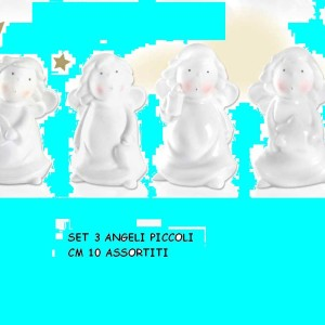 Angeli Piccoli Set 3 pz cm 10 ideadicasa